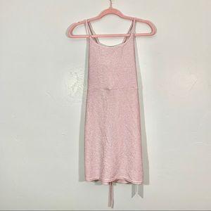 Cupshe | Pretty Pink Sparkle Cross Back Mini Dress